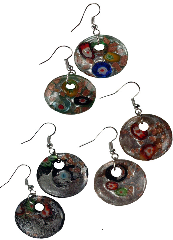 Art Glass Earring Circle