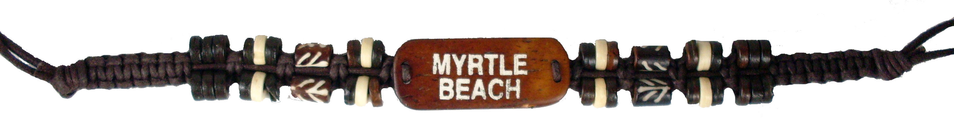 Handmade Bone Name Drop Bracelet Myrtle Beach