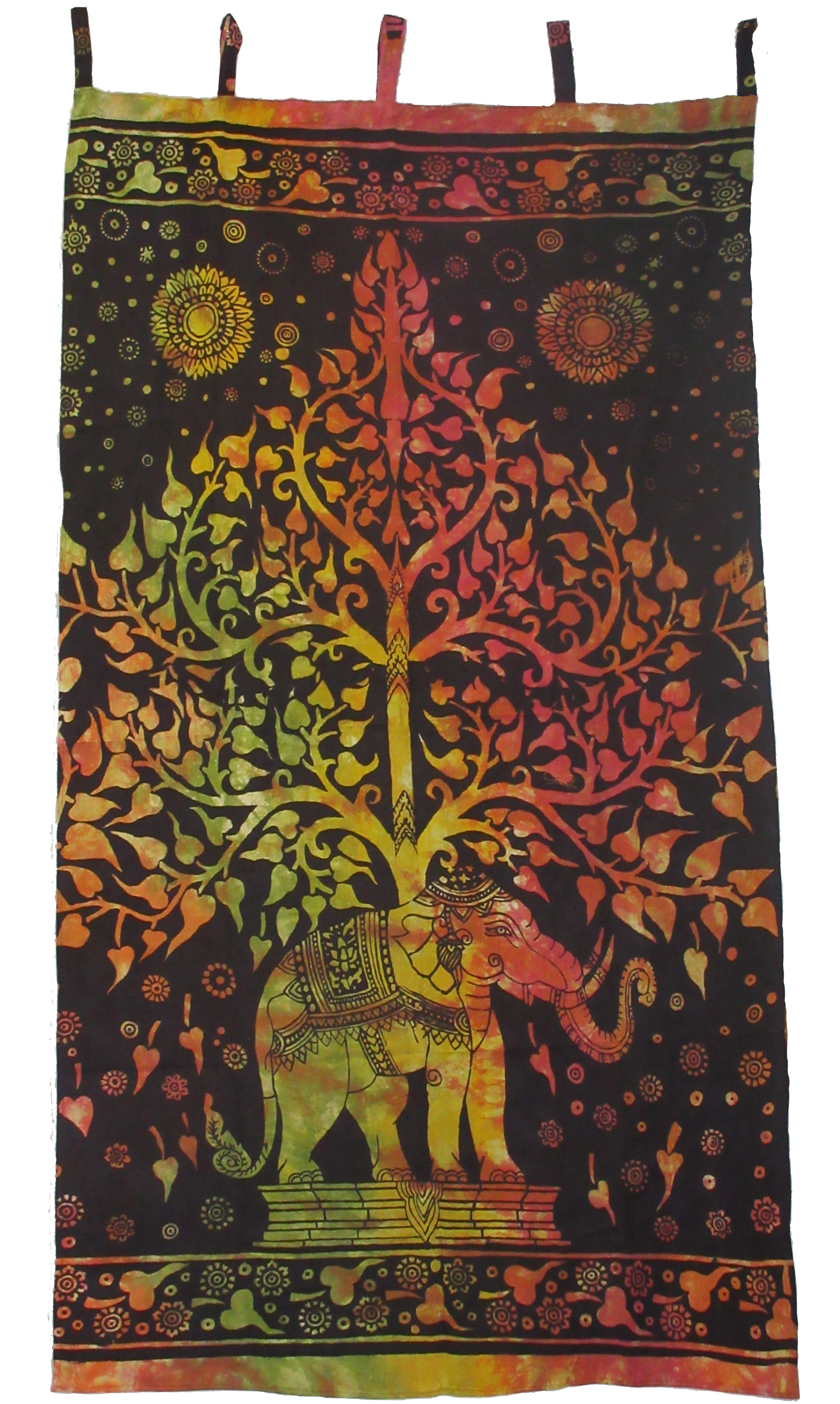 Elephant Tree of Life Curtains