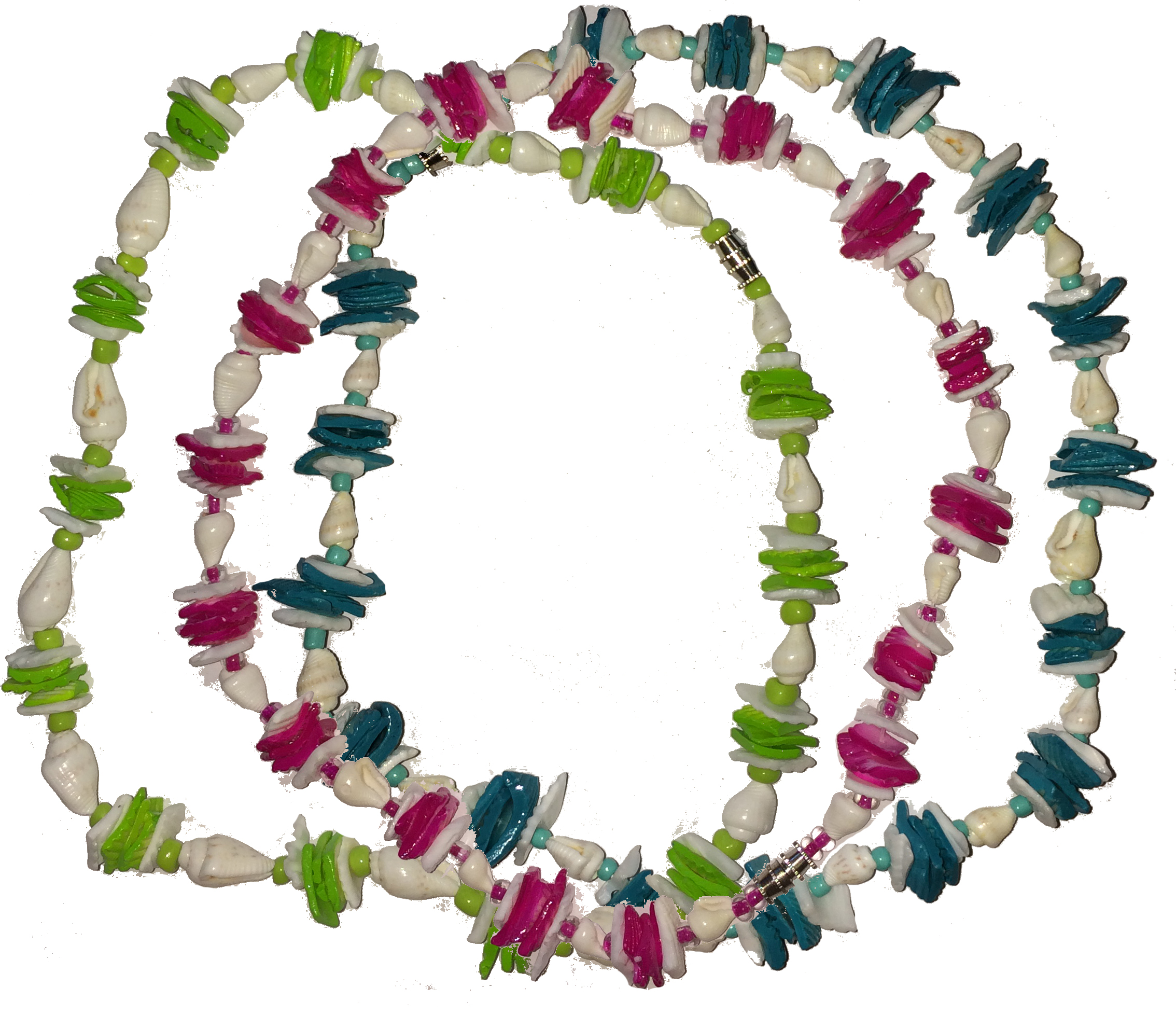 Shell and Bead Combination Necklace