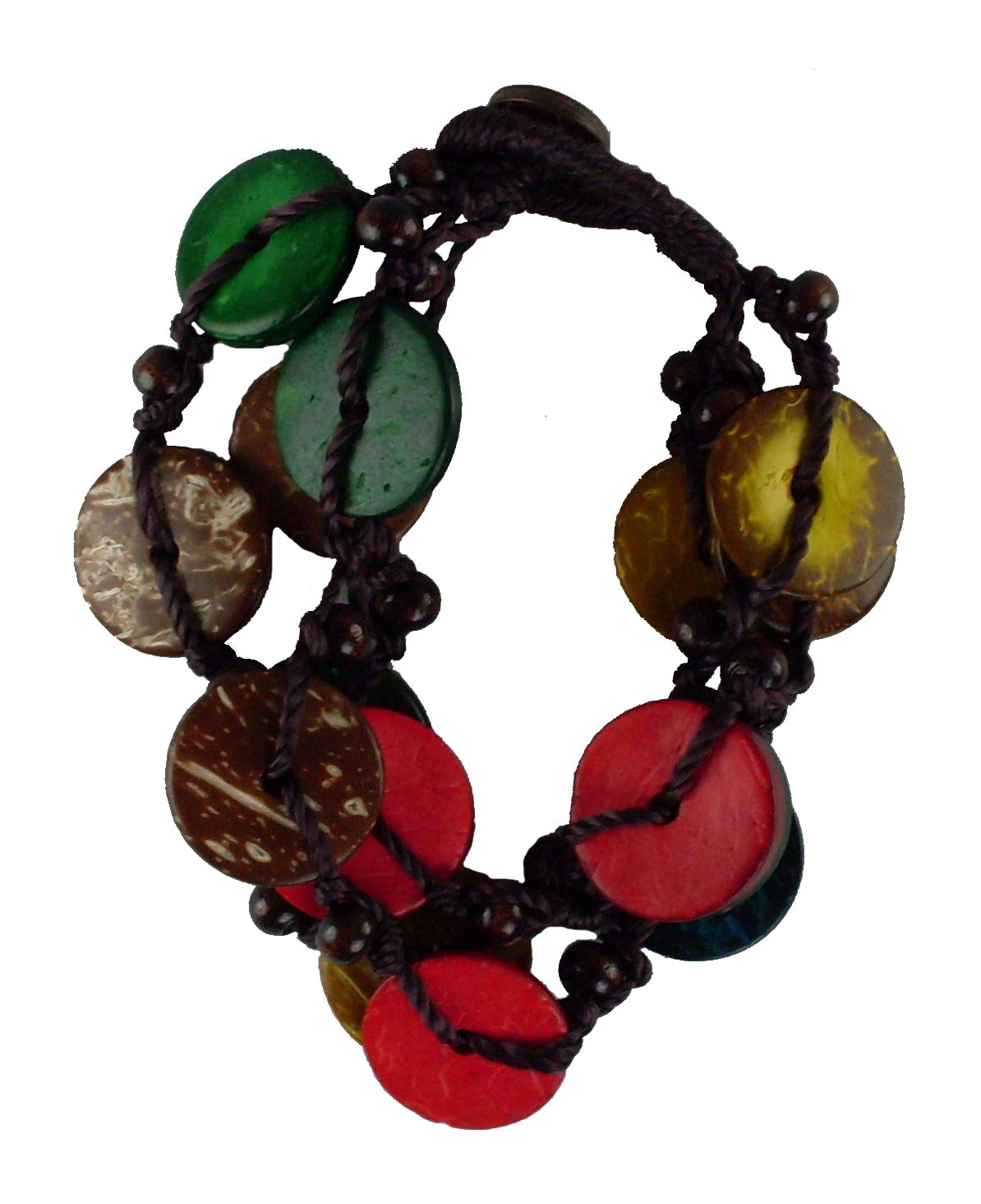 Island Colored Coco Bead Bracelet #1