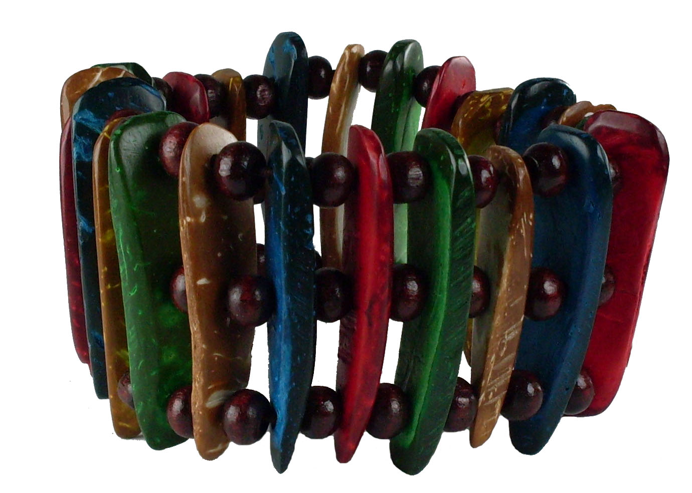 Island Colored Coco Bead Bracelet #4