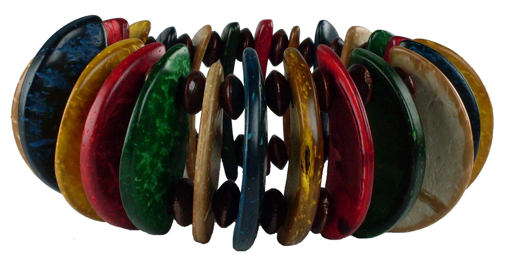Island Colored Coco Bead Bracelet #5