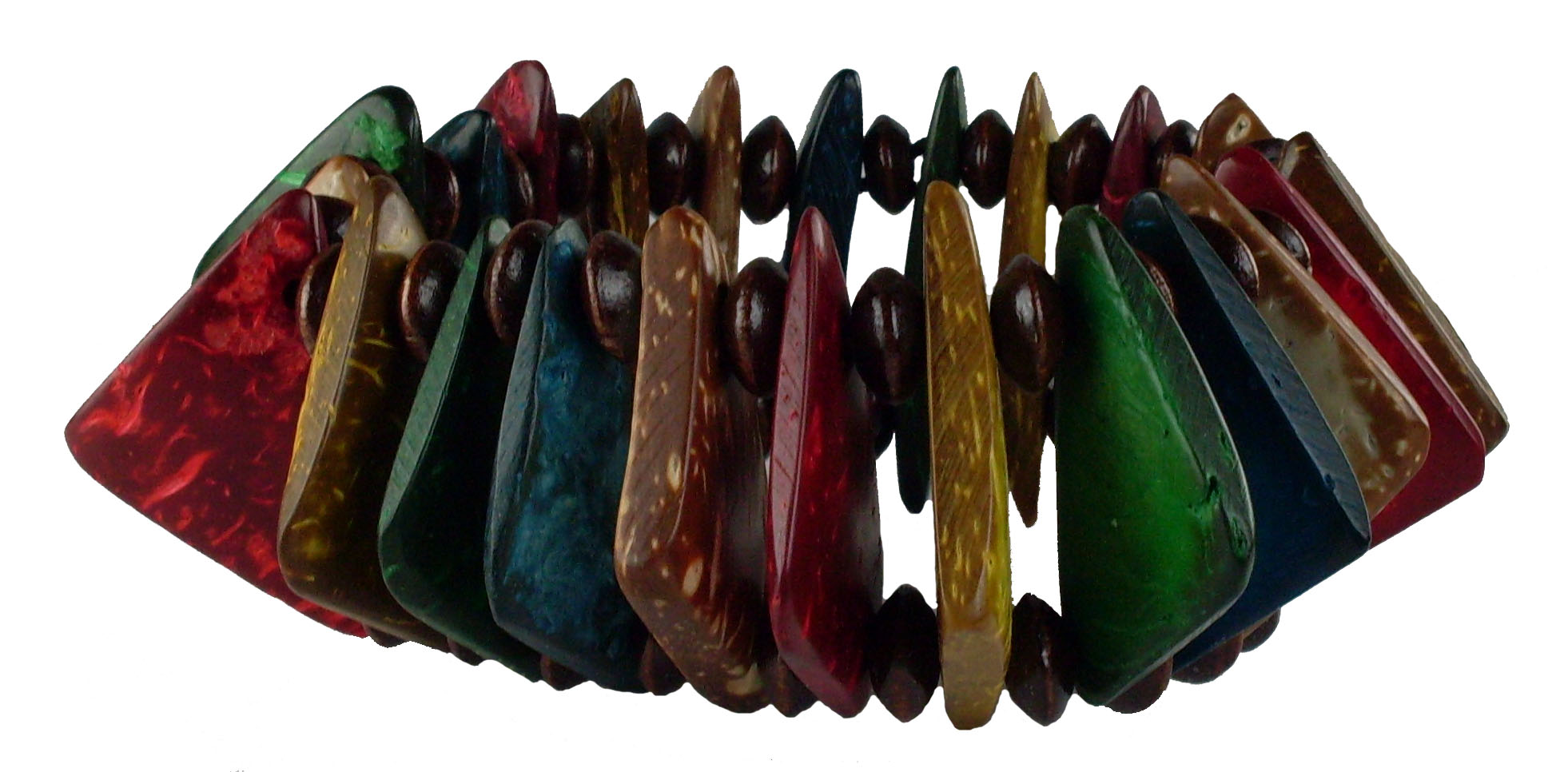 Island Colored Coco Bead Bracelet #6