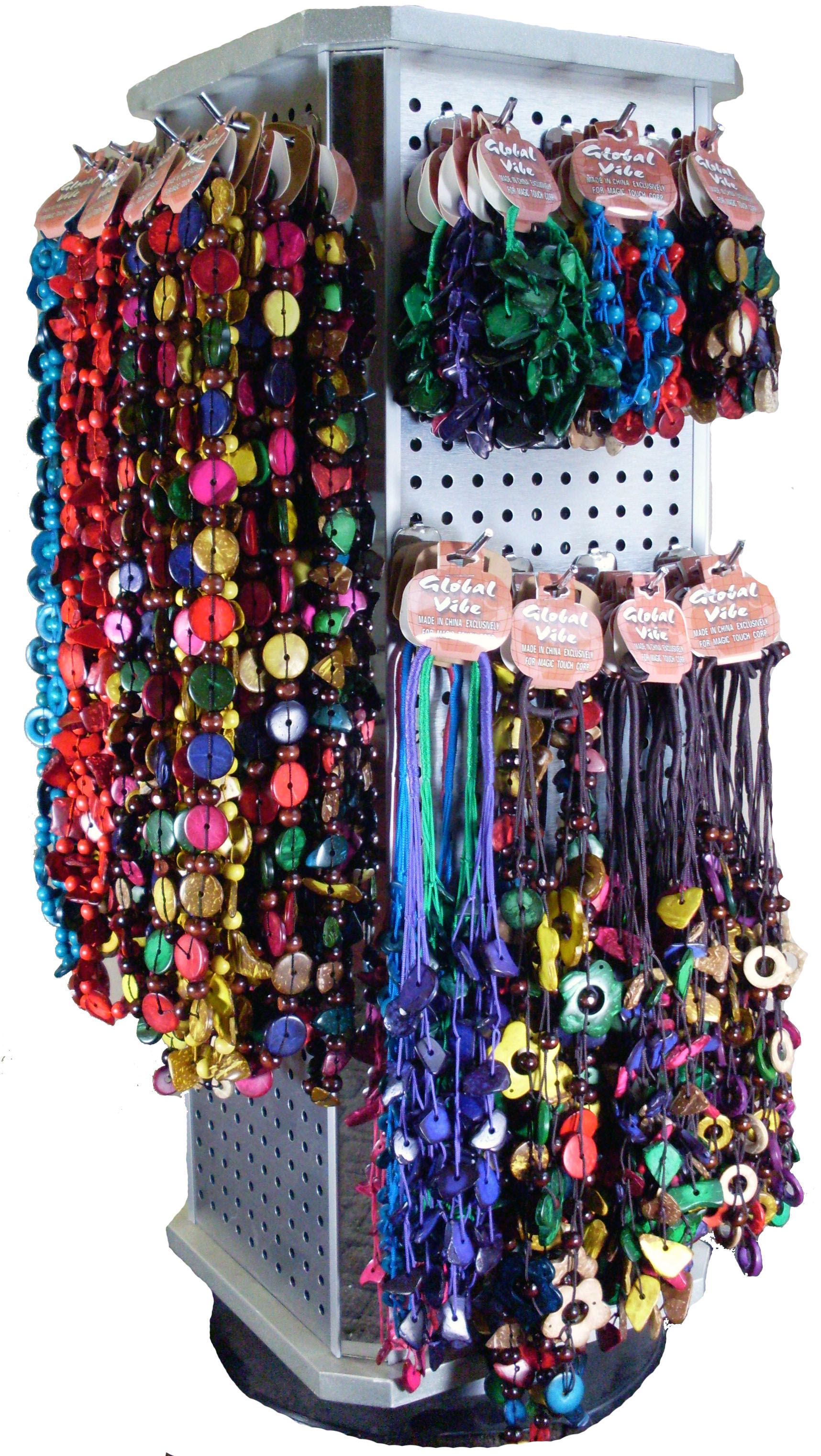 Island Colored Coco Bead Jewelry Pre Pack