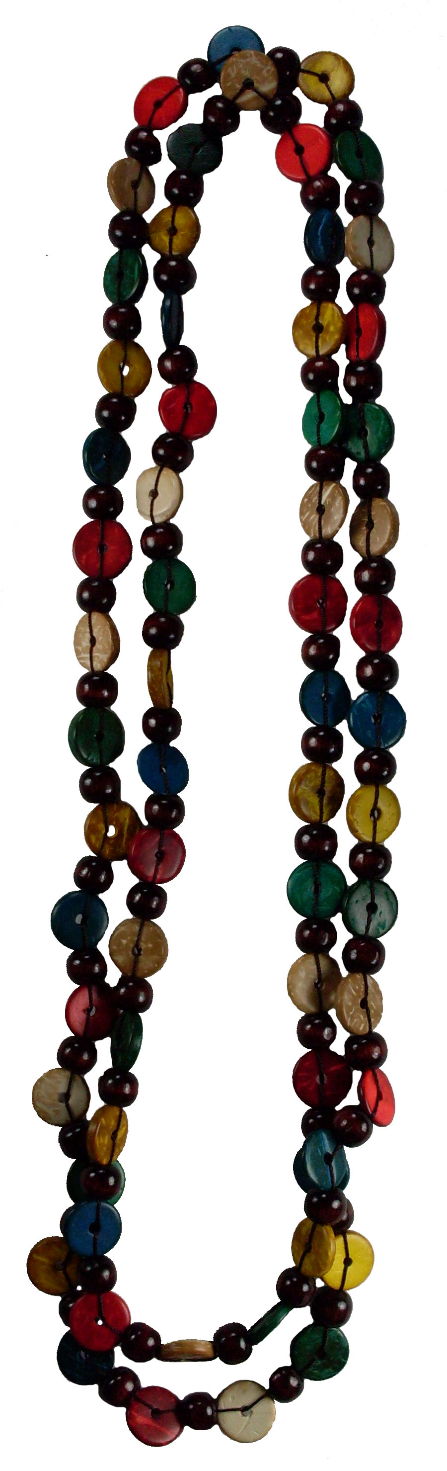 "Island Colored Coco 60"" Long Bead Necklace #3"