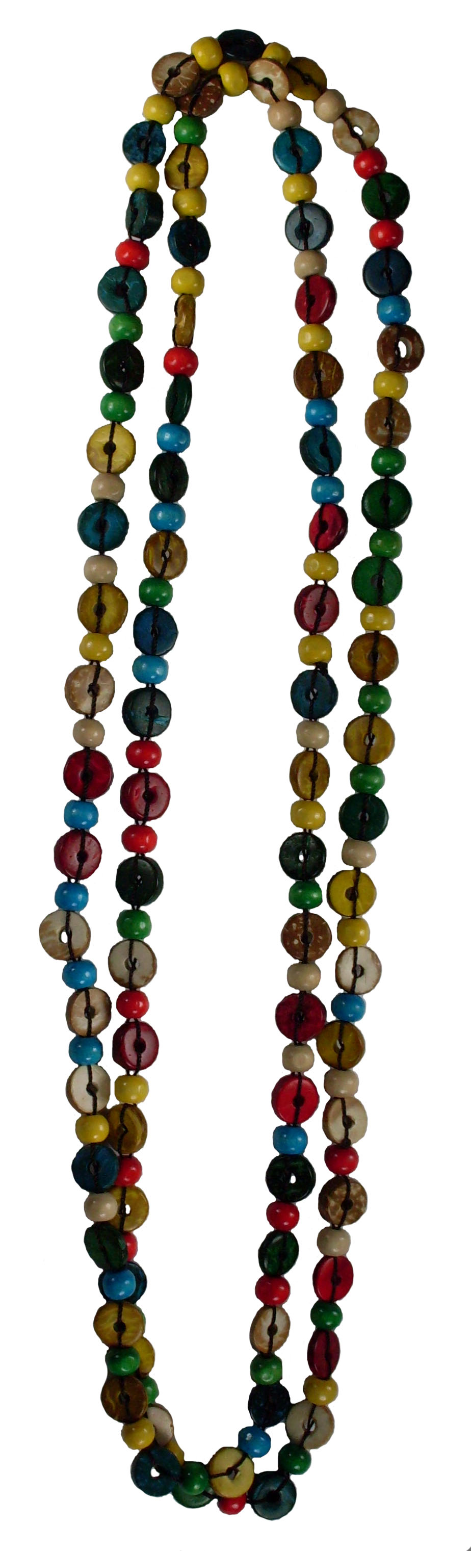 "Island Colored Coco 60"" Long Bead Necklace #5"