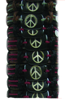 Peace Sign Leather Bracelet #13
