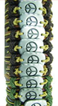 Peace Sign Leather Bracelet #15