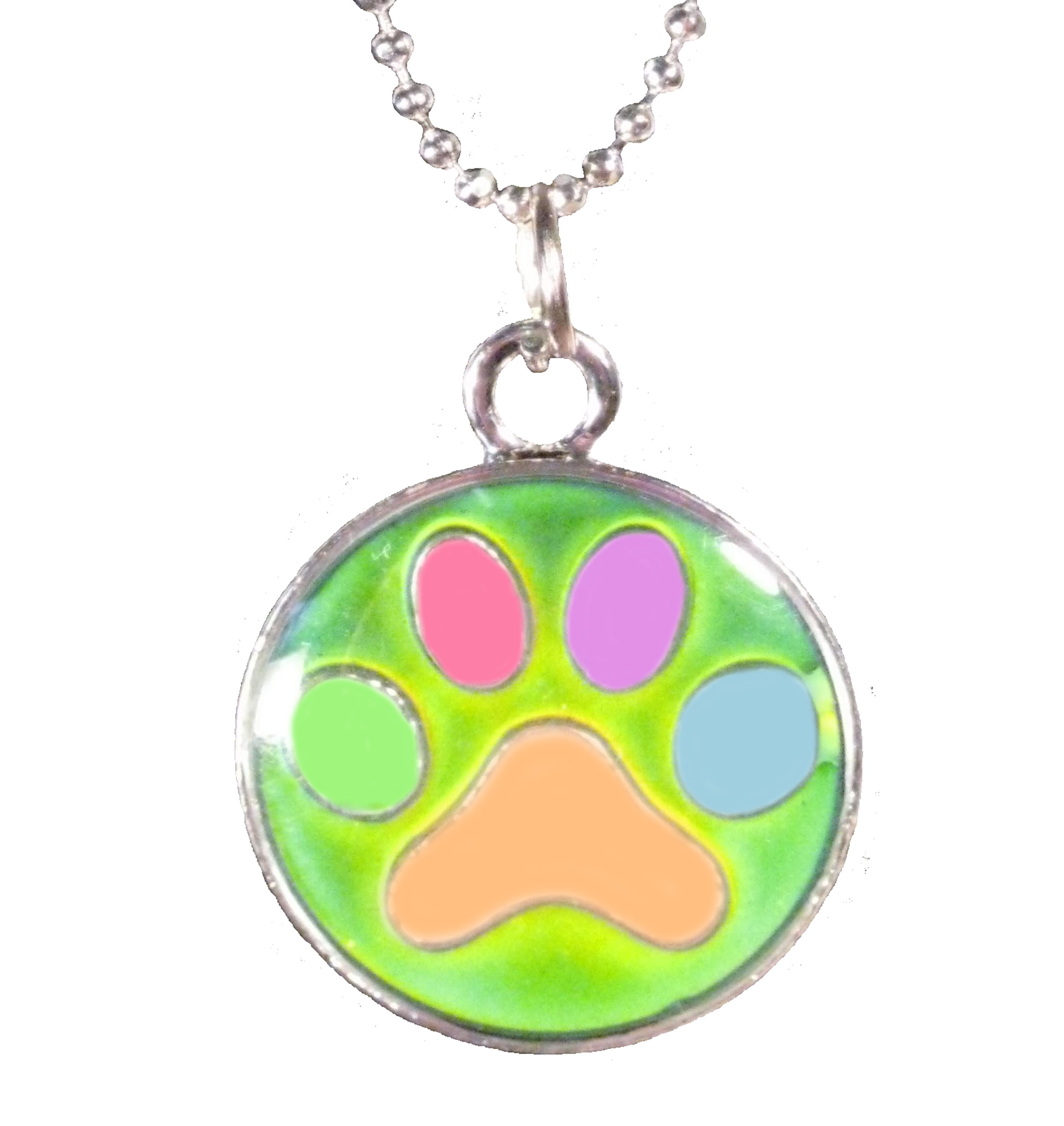 Paw Print Mood Necklace