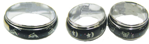 Spinner Band Mood Ring With Designs
