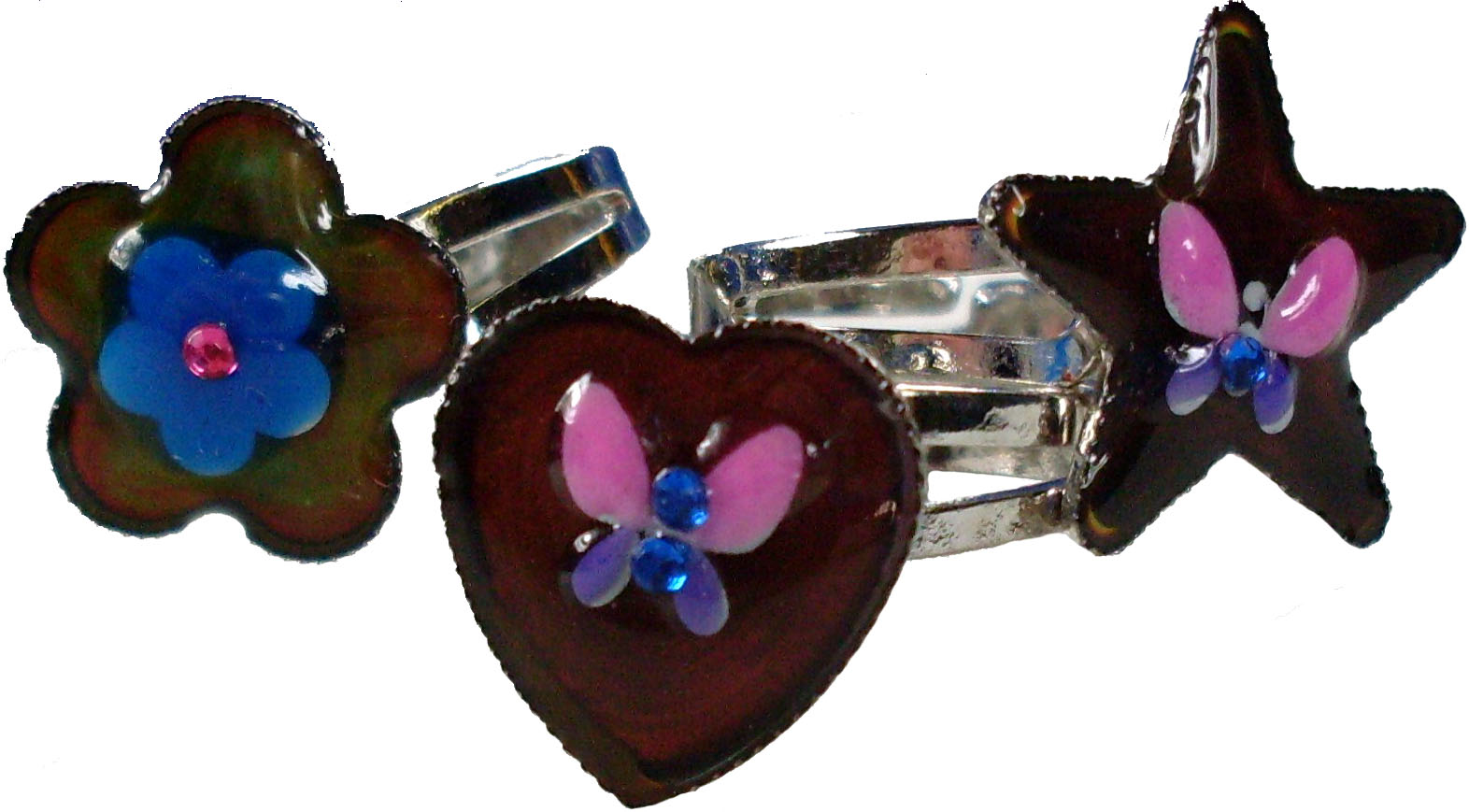 Color Crystal Style Mood Rings