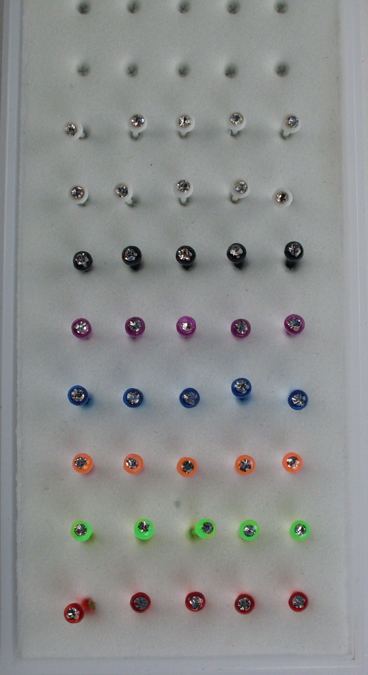 Colored Acrylic Round Nose Studs