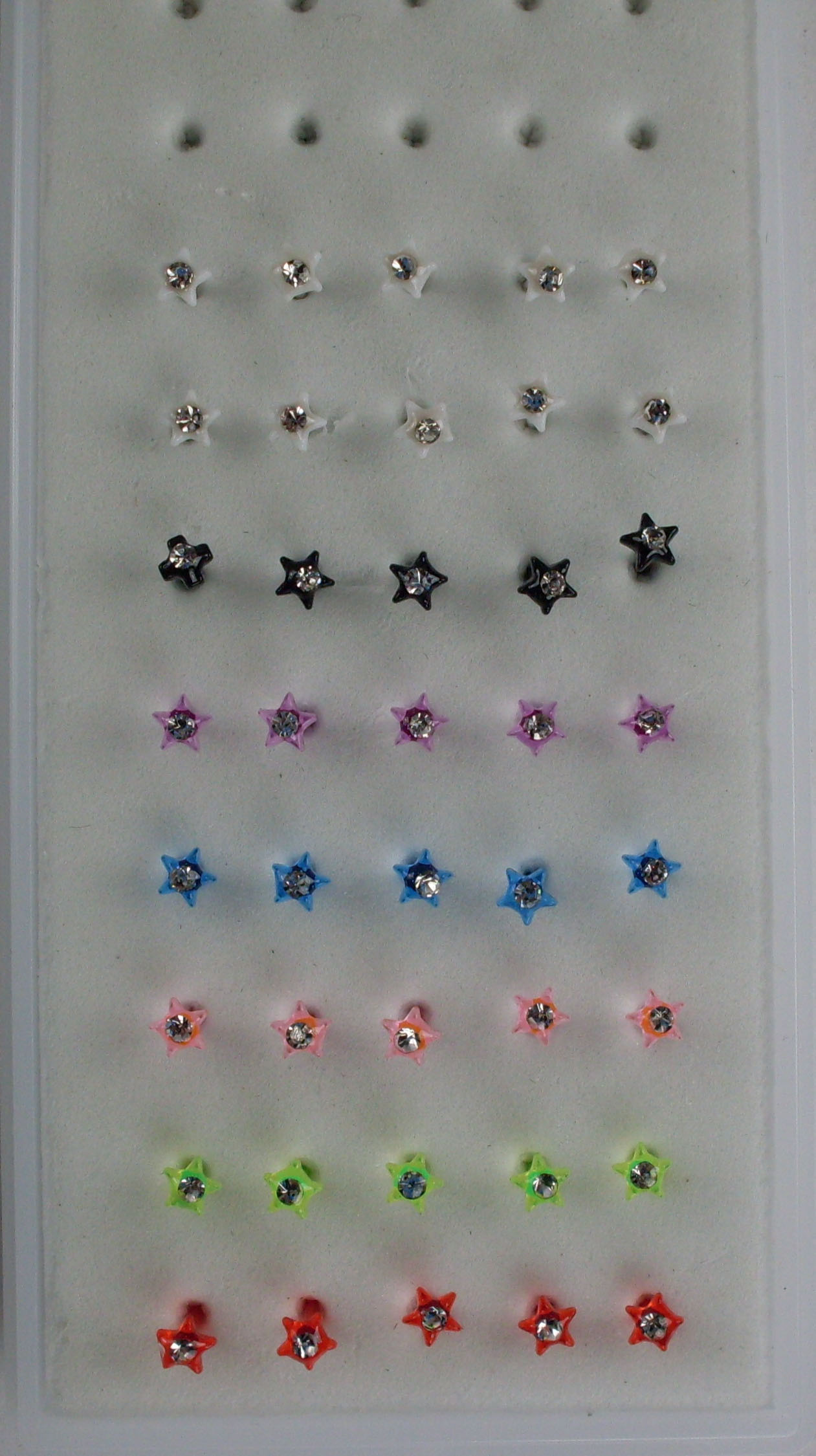 Colored Acrylic Star Nose Studs