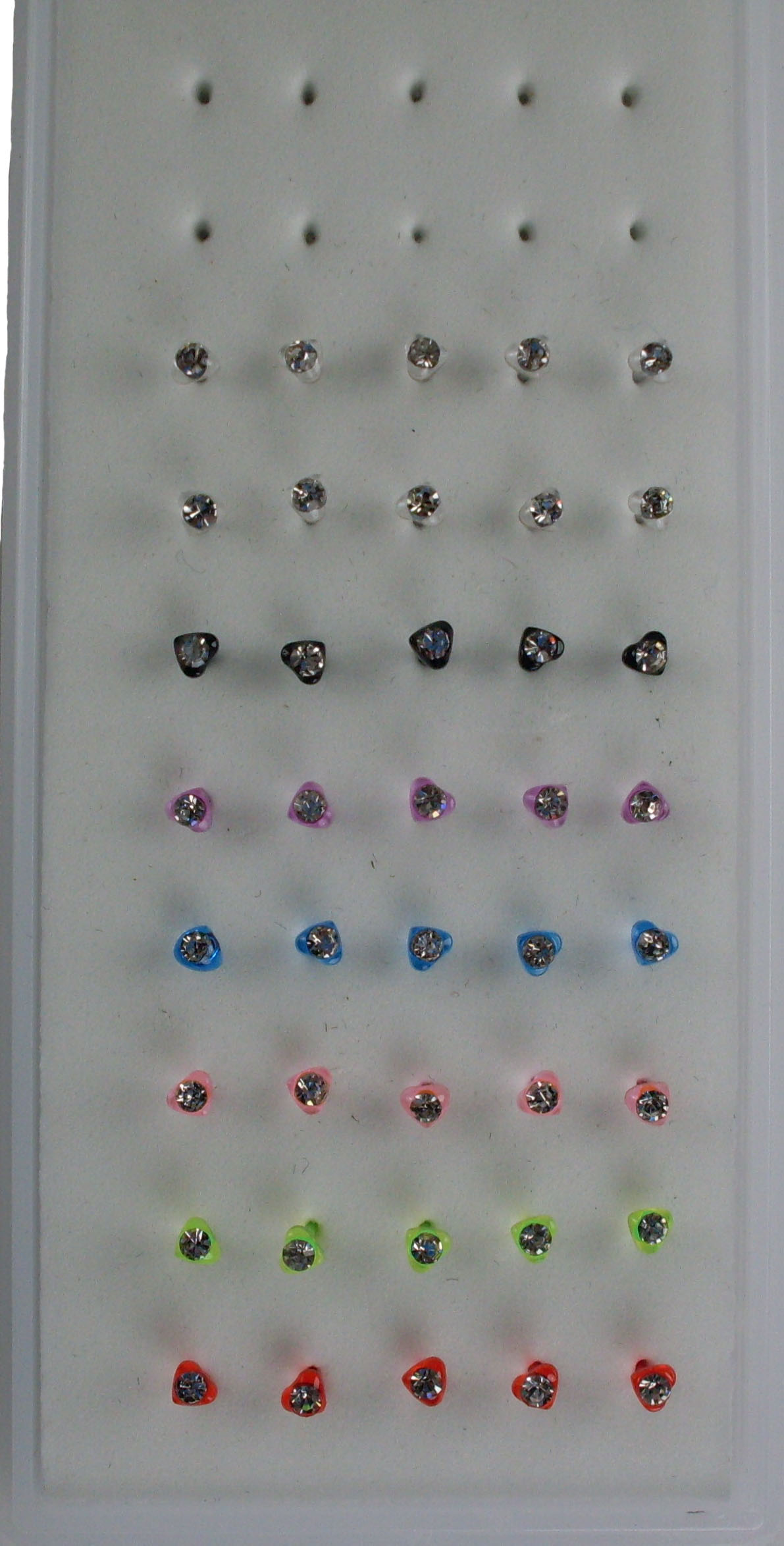 Colored Acrylic Heart Nose Studs
