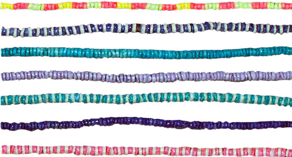 Colored Puka Necklace