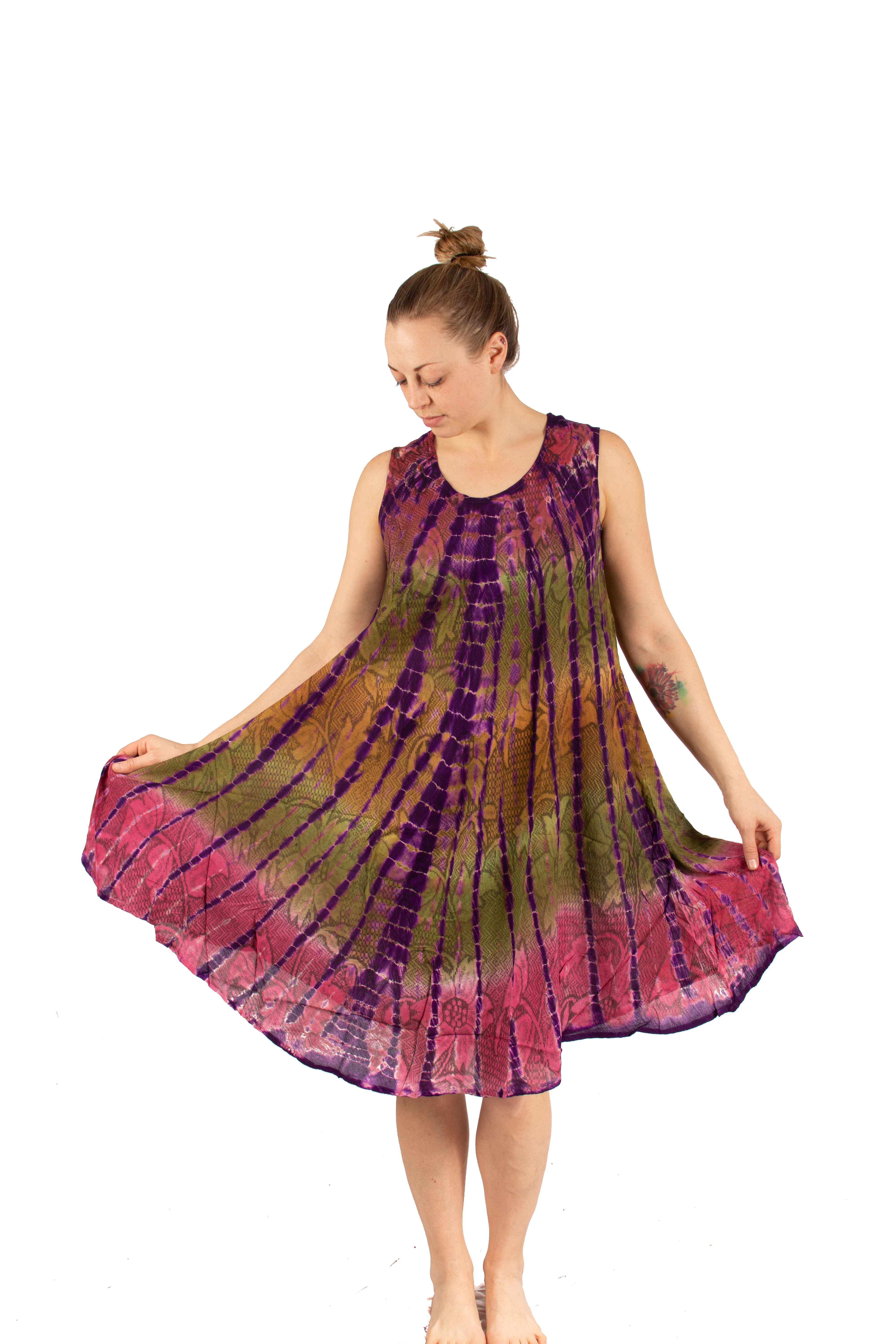 Spray Tie Dye Dress