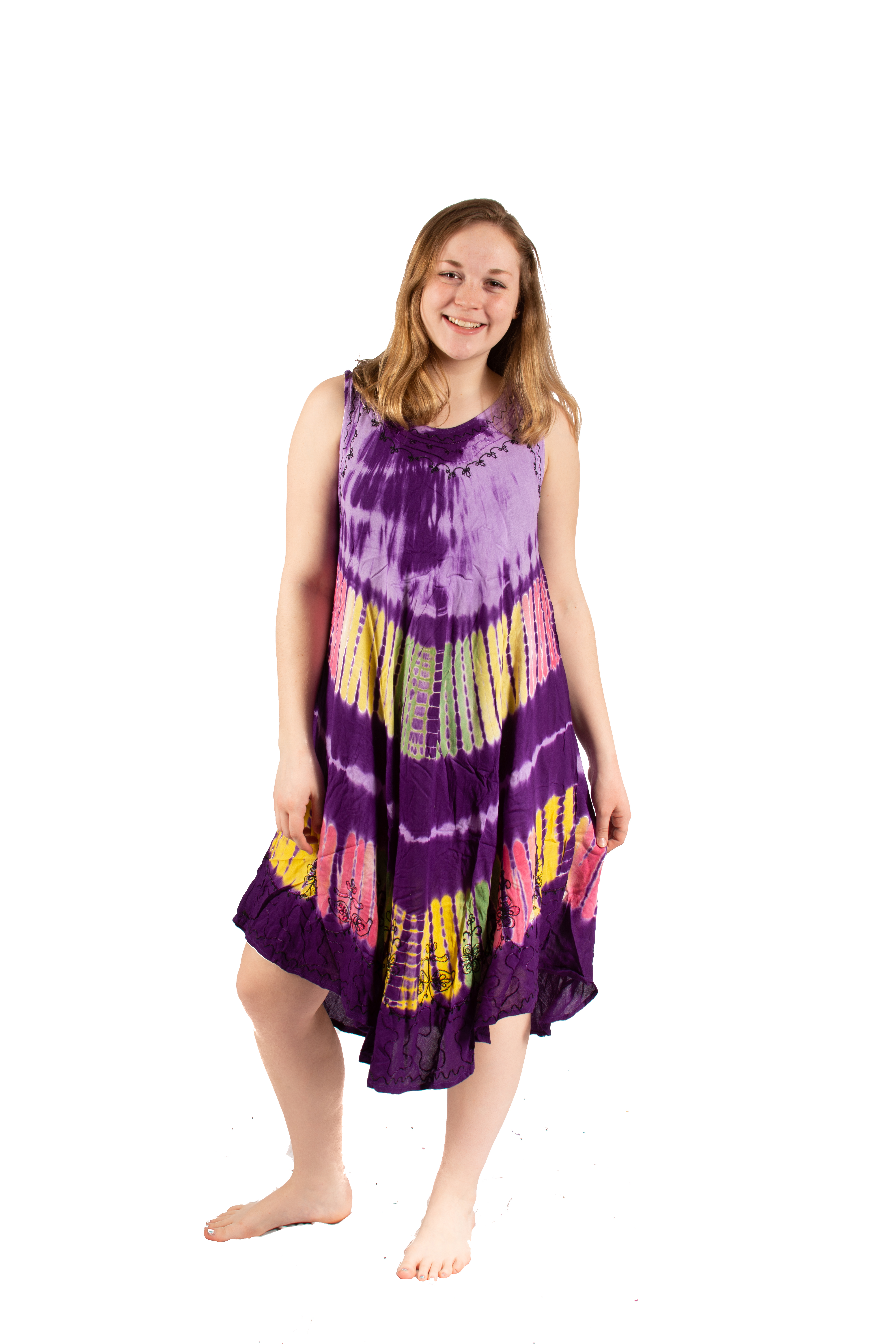 Tie Dye Umbrella Dress