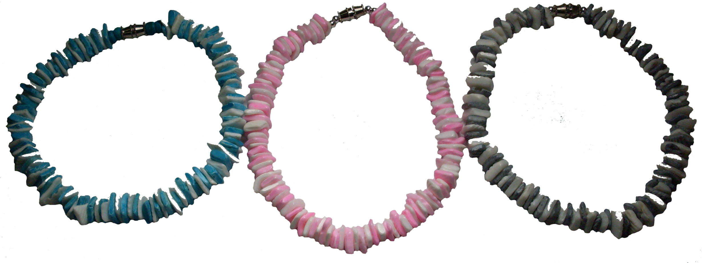 Colored Square Puka Shell Anklet