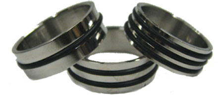 Stainless Steel Black Band Ring
