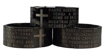 Stainless Steel Bible Verse Ring