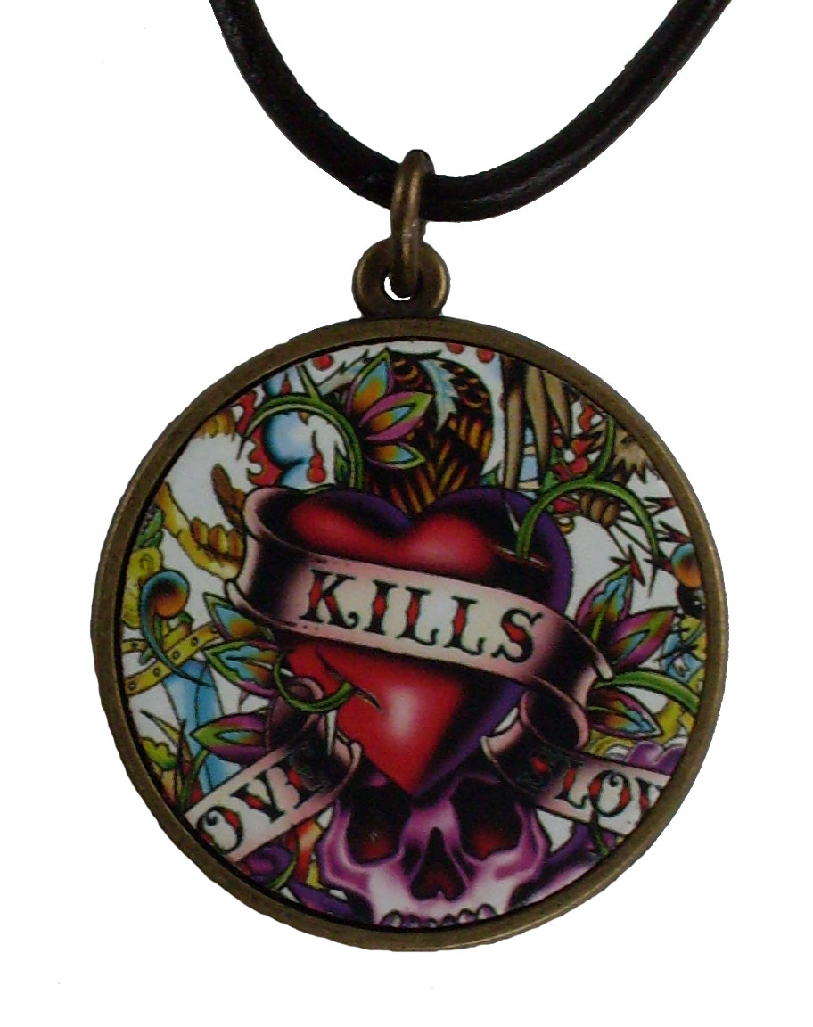 Reduced Price for Special Limited Time Medium Size Tattoo Design Pendant Necklaces #6