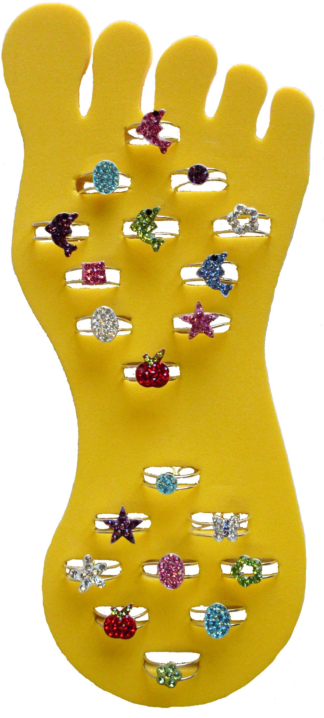Crystal Toe Ring Pre Pack #2