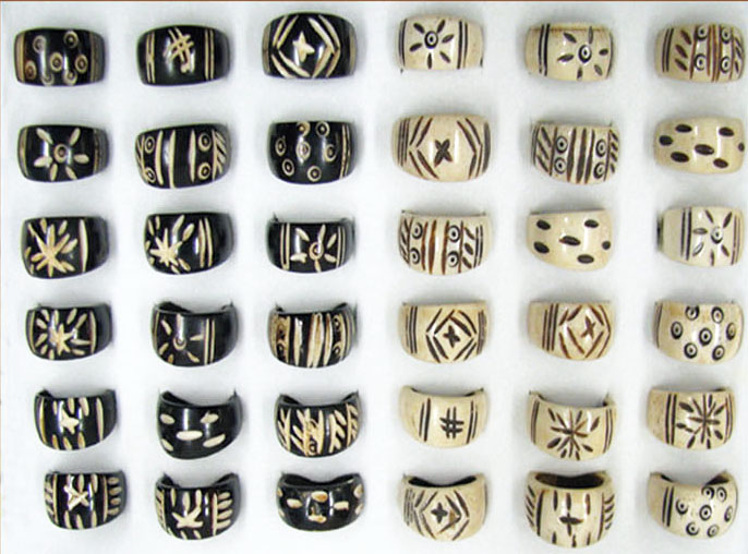Ethnic Bone Rings #1