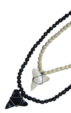 Bone Shark Tooth Necklace #2