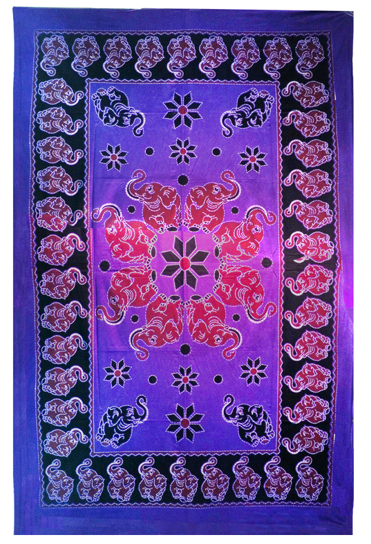 Dancing Elephants Tapestry Full Size