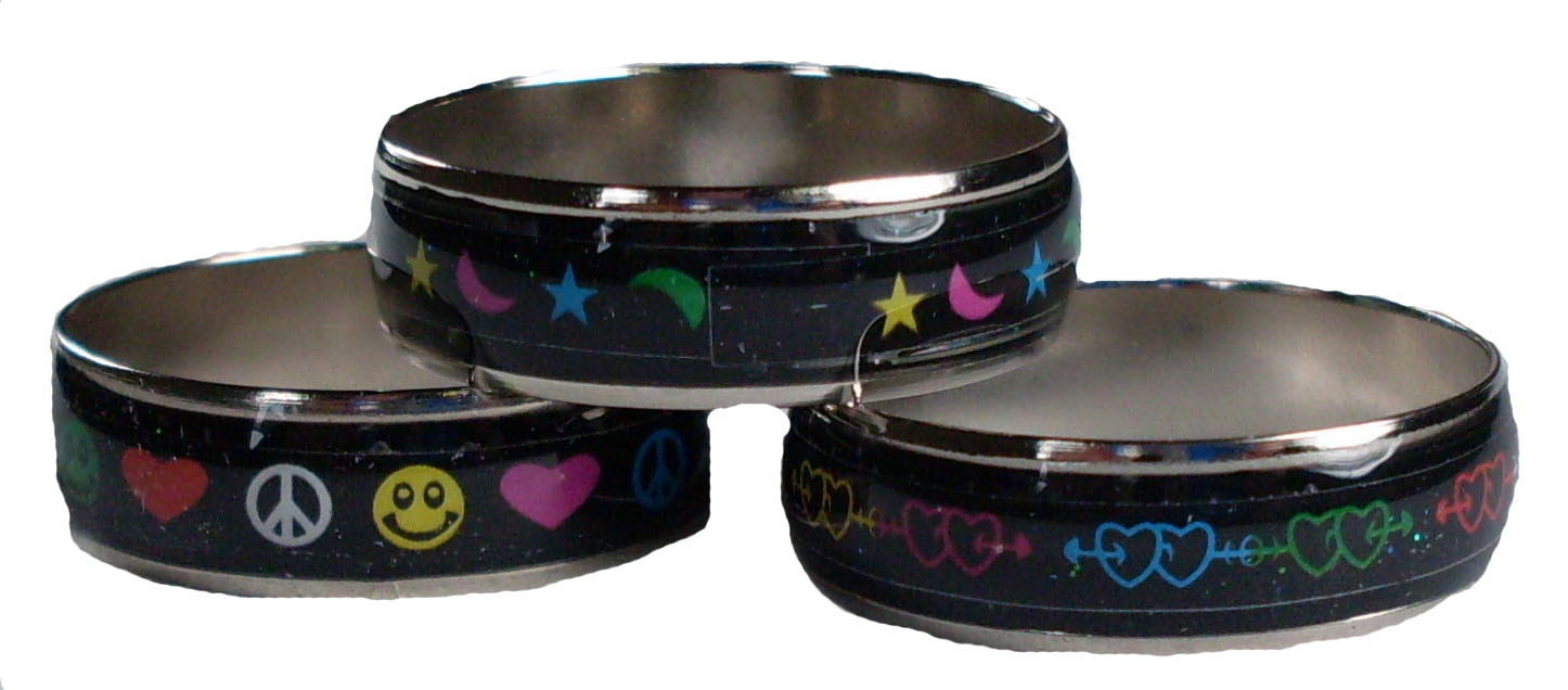 Love and Peace Band Mood Ring
